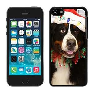 Individualization Iphone 5C TPU Case Christmas Dog Black iPhone 5C Case 27