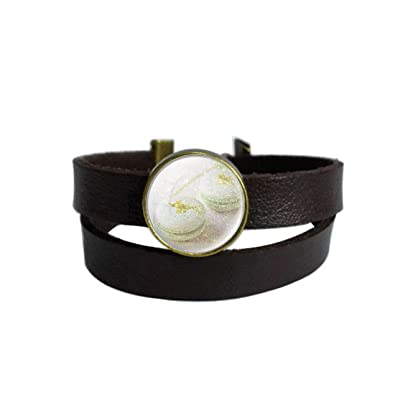 96213e4f672 Amazon.com: LAROK WAZZIT Two Layers Design Dark Brown Leather Cuff ...
