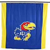 "NCAA Kansas Jayhawks Kansas Jayhawksbig Logo Shower Curtain, Blue, 72"" x 70"""