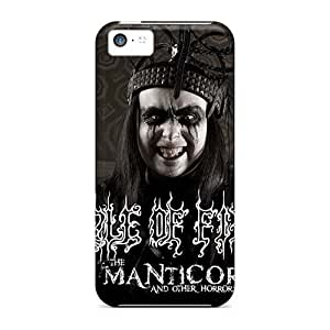 Protective Cell-phone Hard Covers For Iphone 5c With Provide Private Custom Attractive Cradle Of Filth Band Series AshleySimms