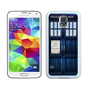 Unique Samsung Galaxy S5 I9600 Case ,Popular And Durable Designed With Tardis Doctor Who White Samsung Galaxy S5 I9600 Cover