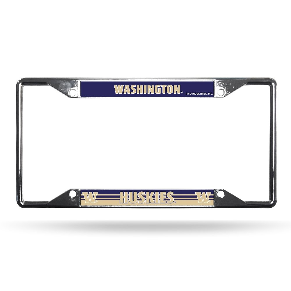 NCAA Washington Chrome License Plate Frame Rico Industries Inc FCZ490210