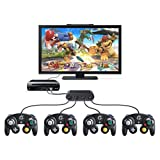 Ortz? Gamecube USB Controller Adapter for Wii U & PC - 4 Ports - Perfect for Super smash Bros - - Windows & Wii U Compatible - Works on Dolphin Emulator by Ortz