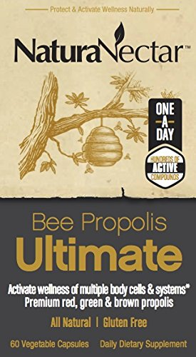 NaturaNectar Bee Propolis Ultimate, Vegetable Capsules, 60 Count
