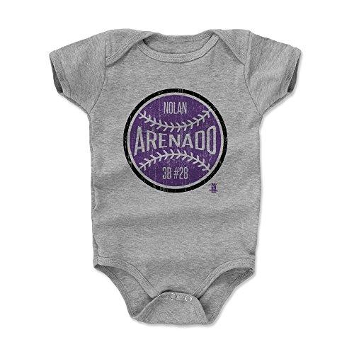 500 LEVEL Nolan Arenado Baby Clothes, Onesie, Creeper, Bodysuit 18-24 Months Heather Gray - Colorado Baseball Baby Clothes - Nolan Arenado Ball P