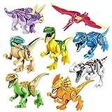 ArRord Colorful 8 Pcs Jurassic Park Dinosaur Animal Building Block Toy Set