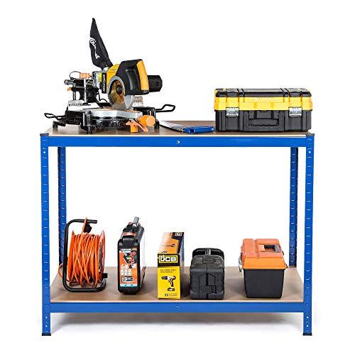 «Racking Solutions – Banco de trabajo cargas pesadas, casa, garaje, bricolaje, capacidad de carga total de 600kg (2 niveles 900mm Al x 1200mm An x 600mm Pr) + Envío gratis «