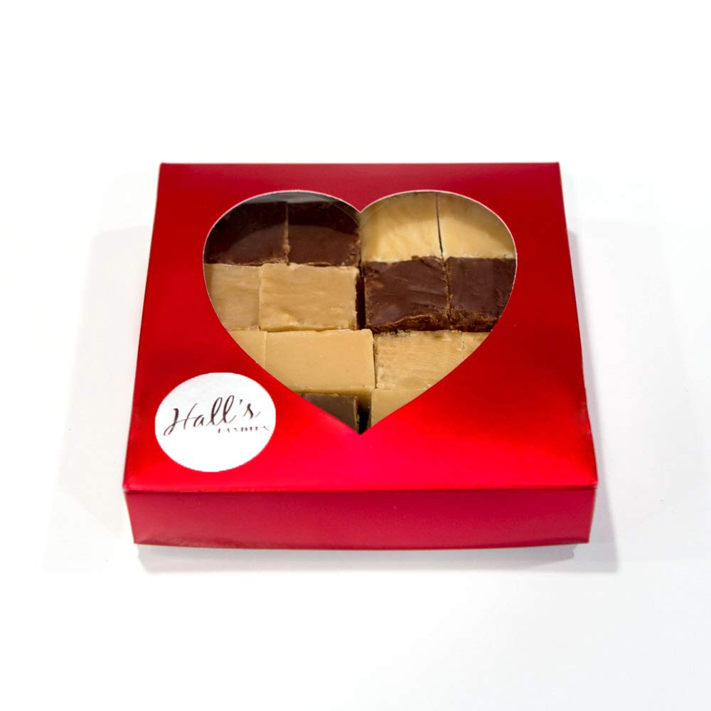 Hall's''Be My Valentine'' Assorted Fudge Gift Box, 1 Pound by Hall's Candies