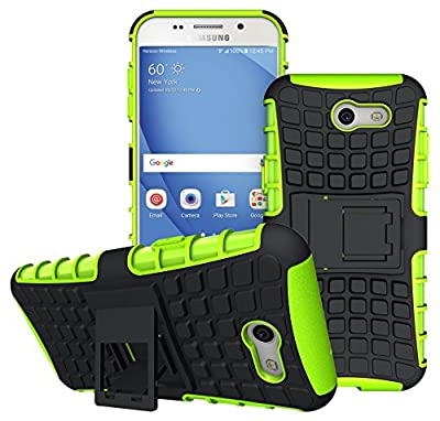 For Samsung Galaxy J3 Emerge Case, J3 Prime / J3 Mission / J3 Eclipse / J3 2017 / J3 Luna Pro / Sol 2 / Amp Prime 2 / Express Prime 2 Case, KMISS Hybrid Heavy Duty Armor Case with Kickstand from KMISS 9 inch iphone 7 anti-shock action camera and arm belt