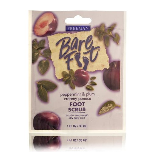 (Freeman Bare Foot Peppermint & Plum Foot Scrub 30ml/1oz)