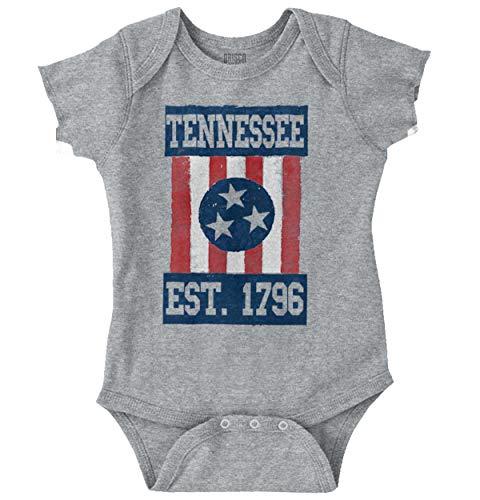 Tennessee Vintage Flag Southern TN Souvenir Romper Bodysuit