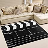 ALAZA Movie Clapboard Black Area Rug Rugs for Living Room Bedroom 7' x 5'