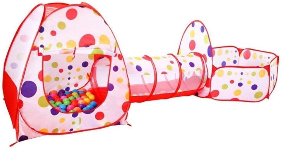 Nikgic - Lunares Carpa Plegable Túnel de Juego Infantil Casa de Juguete Desmontable Interior y Exterior y Piscina de Bolas para Niños