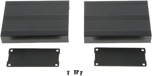 LANDUM 100x65x50mm Bricolage Bo/îtier en Aluminium Bo/îtier /Électronique Projet PCB Bo/îte dInstrument