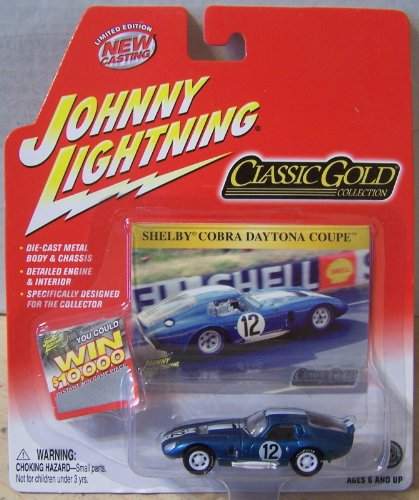 (Johnny Lightning Classic Gold Collection Shelby Cobra Daytona Coupe Blue)