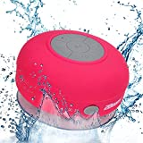 2BOOM Aqua Jam Portable Bluetooth Wireless Water Resistant Shower Speaker with Suction Cup Pink
