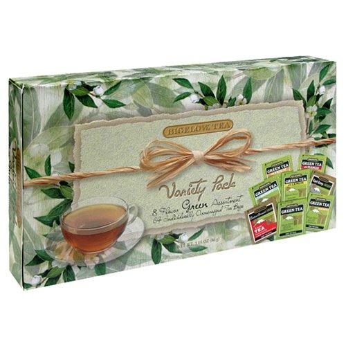 Bigelow 8 Flavor Green Tea Assortment, 64-Count Box