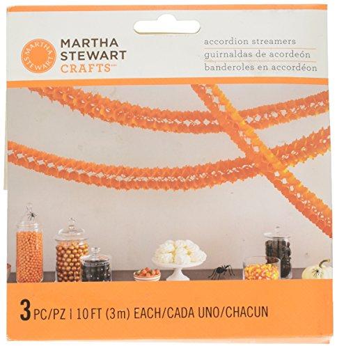 Martha Stewart Crafts Spooky Night Orange Accord Garland, 48-20446 -
