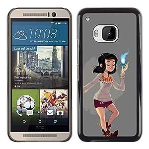 """For HTC One ( M9 ) Case , Magical Girl Poder Espiritual cómica de dibujos animados"""" - Diseño Patrón Teléfono Caso Cubierta Case Bumper Duro Protección Case Cover Funda"""