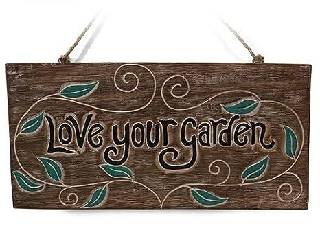 encanta tu jardín señal para casa o jardín regalo – gran señal para cobertizos