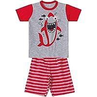 Pijama Marisol Tubarões Menino Vermelho