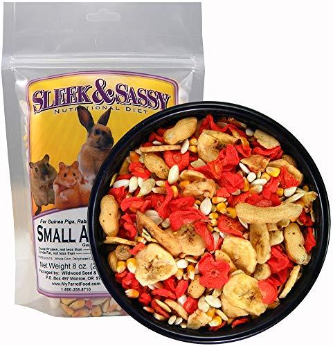 (Sleek & Sassy All Natural Small Animal Treat for Guinea Pigs, Rabbits, Hamsters, Gerbils, Rats & Mice (8 oz.) )