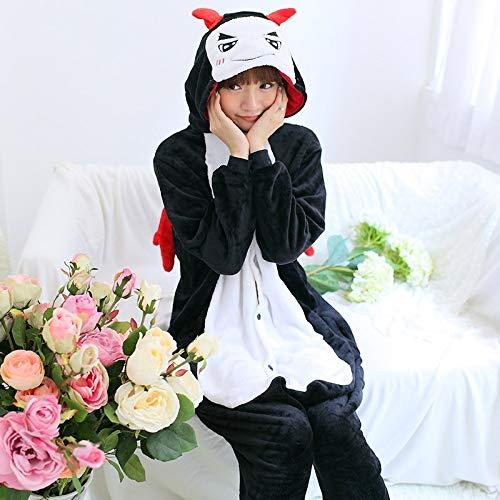 Demo L JYLW Pyjamas l'hiver Madame Pyjama Licorne pour Adultes Tout-en-Un Pyjama Costume Animal Cosplay Femmes Hiver VêteHommest Mignon Animal Licorne Pyjama Ensembles Costume Hiver