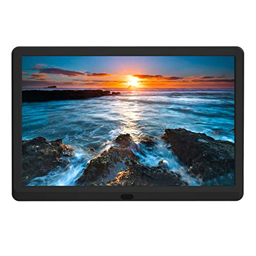 Aazomba 10 Inch Digital Photo Frame with High Resolution 1920x1080 16:9 IPS Screen/1080P 720P Video Player/Stereo/MP3/Auto-Rotate/Calendar/Time/Remote Control