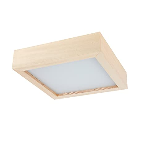 Plafón Madera Pino 33 x 33 cm, madera lámpara LED 1 x 6 W |