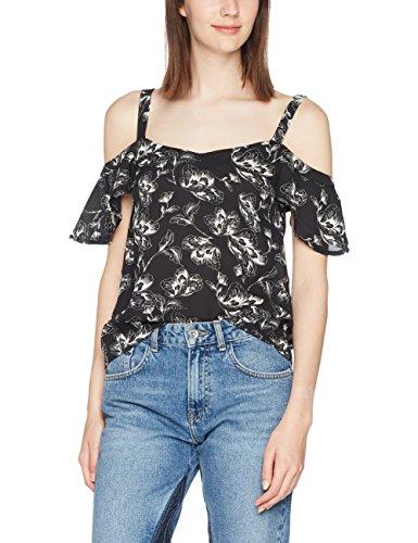 Tally Weijl, Blusa para Mujer Mehrfarbig (Black-Multi Color HHXX)