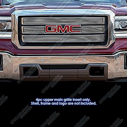 GaofeiLTF Chrome Grille Overlay Kit Fits 2015-2020 GMC Yukon XL Snap On Grill Cover Insert 4 pcs