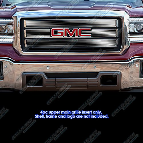 APS Fits 2014-2015 GMC Sierra 1500 Upper Billet Grille Grill Inserts #G65972A ()