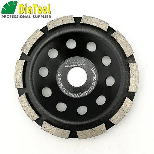 (SHDIATOOL 5 Inch Diamond Single Row Grinding Cup Wheel for Concrete Masonry Granite Marble Diamond Grinding Disc Fits 7/8 Inch Arbor )