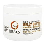 Nine Naturals Vanilla + Geranium Regenerative Pregnancy Belly Butter 4 oz
