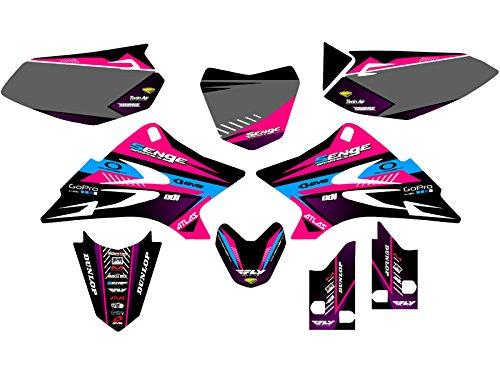 Senge Graphics 2006-2018 Yamaha TTR 50, Surge Pink Graphics Kit (Graphic Ttr50 Kit)