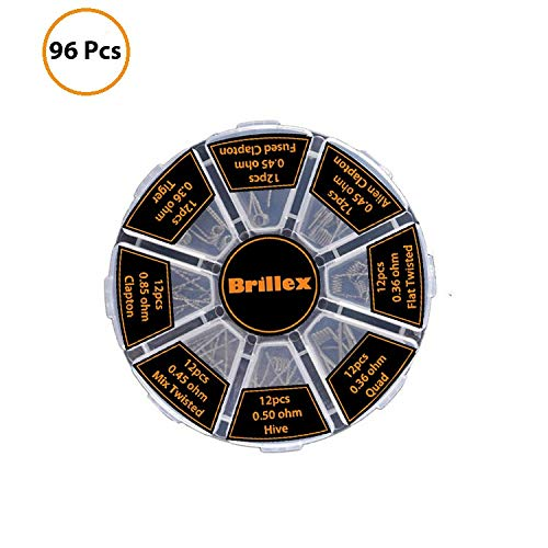 96pcs Prebuilt Resistance Wire Premade Set 8 Different Types -for Electrical Use (Best Vape Coil Builds)