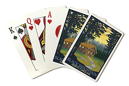 Black Mountain, North Carolina - Cabin Scene (Playing Card Deck - 52 Card Poker Size with Jokers)