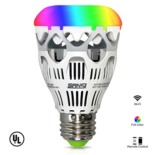 LOFTEK-SANSI 10W RGBW light Bulbs, Wifi Smart L...