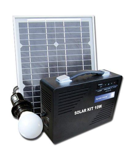 Parallè le Energie Kit Solaire 10W 230V, Noir LTF PESAC-I-10/100W