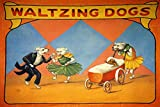 FREAK GEEK CIRCUS WALTZING DOGS DANCE VINTAGE POSTER REPRO