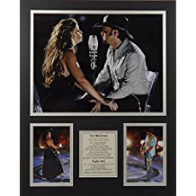 """Faith Hill and Tim McGraw 16"""" X 20"""" Unframed Matted Photo Collage By Legends Never Die, Inc."""
