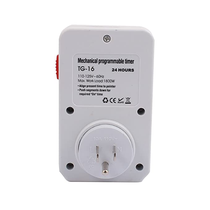 eDealMax 110-125V 1800W de EE.UU. Socket mecánico programable temporizador de 3 terminales de salida 24 Horas para electrodomésticos - - Amazon.com
