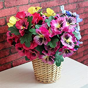 Ximkee Artificial Pansy Flowers for Home Office Decoration 115