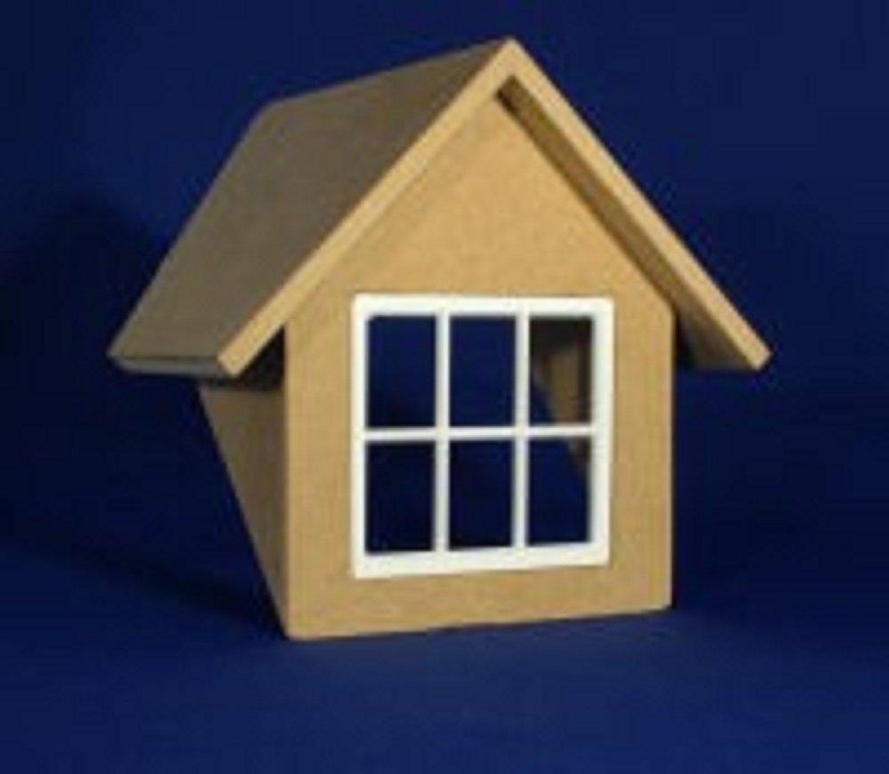 MELODY Jane Miniatura Para Casa De Muñecas GABLE Dormer VENTANA KIT 1:24 mitad Escala