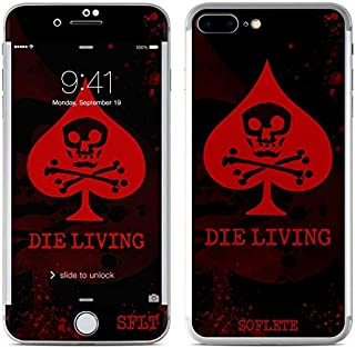 product image for SOFLETE Die Living Guts Protector Skin Sticker Compatible with Apple iPhone 7 Plus - Ultra Thin Protective Vinyl Decal Wrap Cover