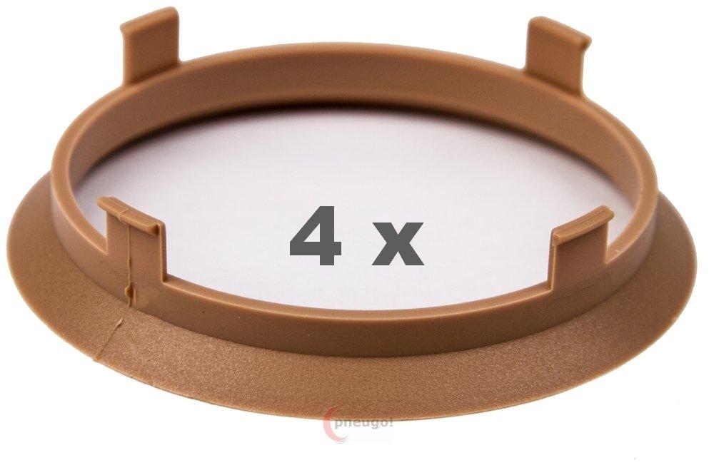4 x Zentrierringe 70.1 mm auf 66.1 mm beige Pneugo