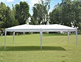 NSdirect EZ Easy Pop Up Canopy Tent Outdoor Portable Party Tent with Carrying Case/Bag Adjustable Folding Gazebo Pavilion Wedding Patio Shelter (10 x 20 ft White)