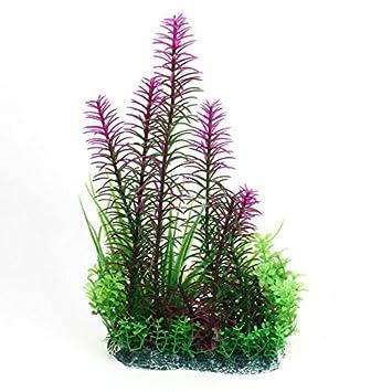 DealMux acuario de simulación decoración Planta de agua, 11, verde / púrpura: Amazon.es: Productos para mascotas