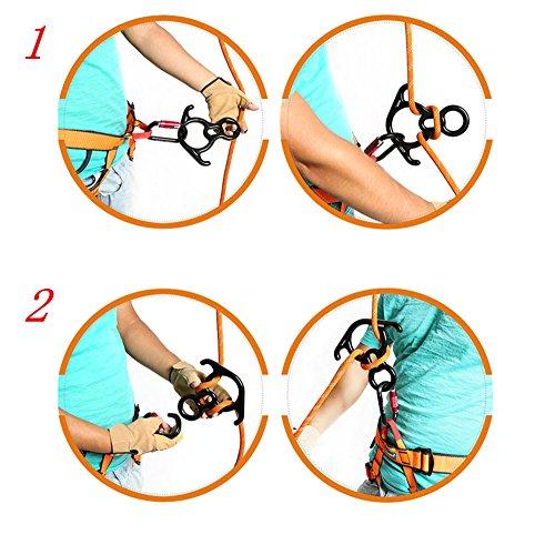 kaiCran Outdoor Tree Surgeon Rock Climbing Figure 8 Descender Rappelling Gear Equip