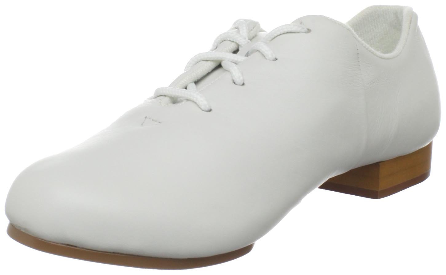 Dance Class Women's CS401 Split Sole Jazz/Clogging Oxford,White,7.5 M US by Dance Class